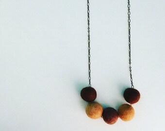 Southport Felt Necklace - Sand