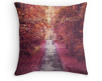 Fall Pillow, Fall Foliage Pillow, Autumn Print, Fall Pillow Case, Fall Toss Photo, Fall Trees Print, Fall Scenic Print, Fall Pillow Cover