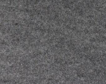 Smoke Gray Felt Fabric - by the yard