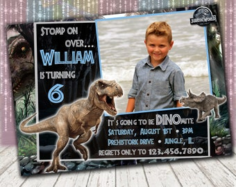 Jurassic World Birthday Invitations - Personalized Printable Digital File