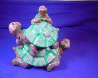 Turtle, ca 12x12 cm Ceramic hand painted