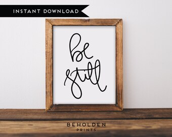 Digital Download, Be Still, Scripture Printable,Dorm Wall Art,Be Still Printable,Wall Art Quote Printable,Calligraphy Print, Christian Quote