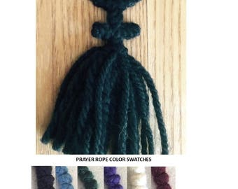 Orthodox Prayer Ropes for the Jesus Prayer, 33 knot with yarn cross, tassel, and bead of your choice