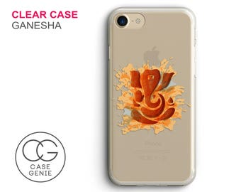 Ganesha Clear Phone Case for iPhone X, 8 Plus, 7, 6, 6s Cell Phone Cover Clear and Frosted Transparent Ganesh