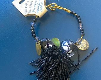 Wine Bottle Necklace or Glass Bottle Decor it Ornament Handmade