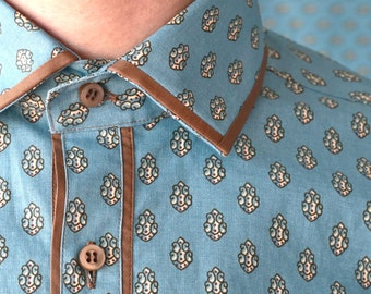 Indonesian Batik Men Shirt CANDY
