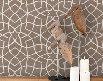 Moroccan Allover Stencil Design Zaza - Reusable stencils for walls DIY decor