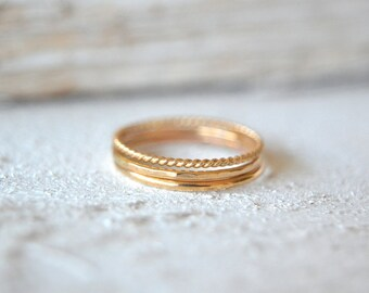 Gold Stacking Rings- Stacking Rings, Stackable Rings, Minimalist Rings, Dainty Ring, Midi Ring, Stacking Gold Rings, Stacking Rings Gold