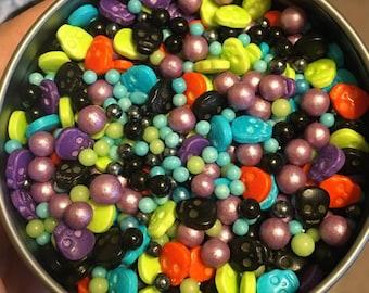 Calavera! - Skulls, Skulls, and more Skulls! Halloween Day of the Dead Themed Sprinkles!