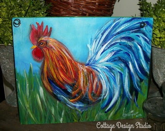 Rooster Farmhouse Painting, Rooster Sign, Rooster Decor, Rooster Kitchen,country  Chic, Country Kitchen, Chicken Coop Decor, Chicken, Farm,