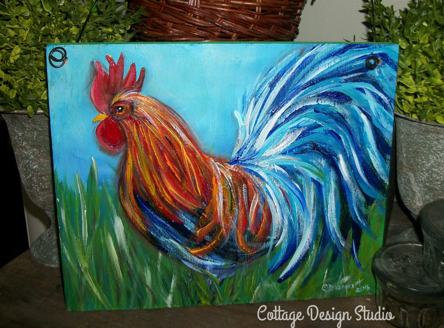 rooster farmhouse painting rooster sign rooster decor