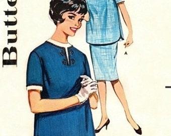 Butterick 9844 Mad Men Maternity Dress /  ca. 1960 / SZ16 UNCUT