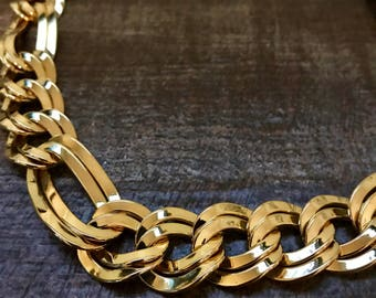Vintage Estate Necklace- Chunky Gold Link Chain