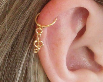 Cartilage earring, Cartilage hoop, Cartilage piercing, Clef cartilage, Cartilage ring, Cartilage, clef earring, clef hoop ring, hoop