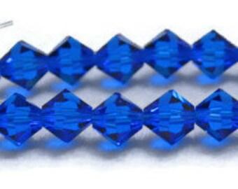 Swarovski Crystal Bicones 6mm - Capri Blue - Article 5301