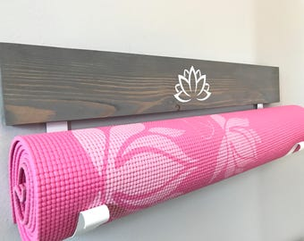 Handmade Rustic Yoga Mat Holder