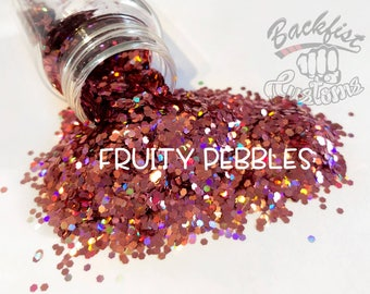 FRUITY PEBBLES || Opaque Chunky Glitter, Solvent Resistant