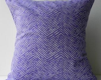 New 18x18 inch Designer Handmade Pillow Case purple chevron pattern.