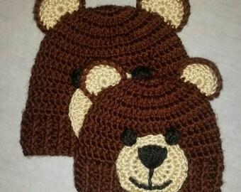 BABY Teddy Bear Beanie