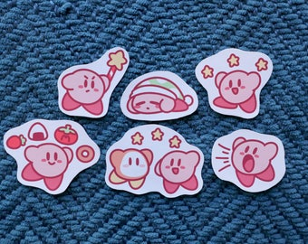 Kirby Sticker Set, Choose from 6 Designs or Pick Whole Set // 200GSM Acid Free