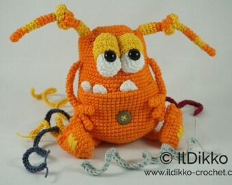 Amigurumi Crochet Pattern - Webster the Monster - English Version