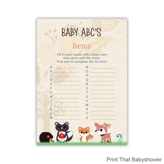 baby shower items list