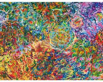 Dancing. Abstract Art. Abstract painting. Abstract print. Modern artwork. Wall art. Dancing print.