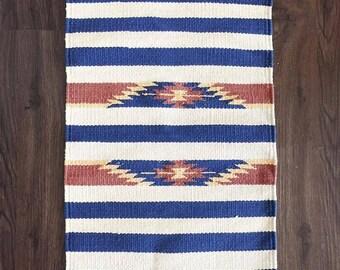 Vintage Southwestern Cotton Woven Placement Mat - Southwest Decor - Textile Wall Hanging - Wall Decor - Southwestern Decor - Desert Decor