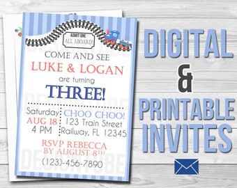 Personalized Digital & Printable Invitations | Print-At-Home | E-Vites E-Invites | Birthday, Wedding, Bridal Shower, Invitations