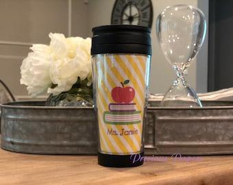 Teacher travel mug - teacher coffee mug teacher gift travel mug - personalized coffee mug