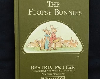 The Tale of The Flopsy Bunnies by Beatrix Potter - Vintage Beatrix Potter Book - Betrix Potter Picture Book - Vintage Picture Book