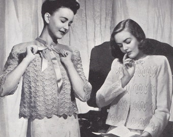 Patons 213 Womens 1940s Knitting Patterns Booklet Bed Jackets Dressing Gown Capelet ORIGINALS not PDF