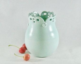 Vase Ceramic Vase Flower Pot Ceramics and Pottery Vase Art Deco Bud Vase Container Urn Office Decor Flower Holder Jar Amphora Anniversary