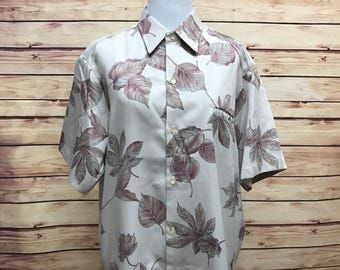 Tori Richard Men's Hawaiian Camp Luau Shirt Large 70s