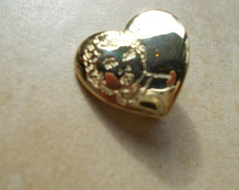 """vintage heart pin """"Variety Club"""". on back ..childs face on front...."""