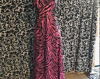 Pink Zebra Dress