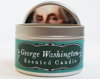 George Washington Scented Candle | Funny President's Day gift | Founding Fathers | White House