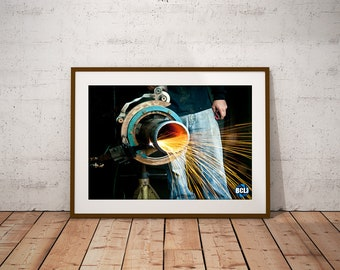 Welding Sparks - urban, industrial photography, long exposure