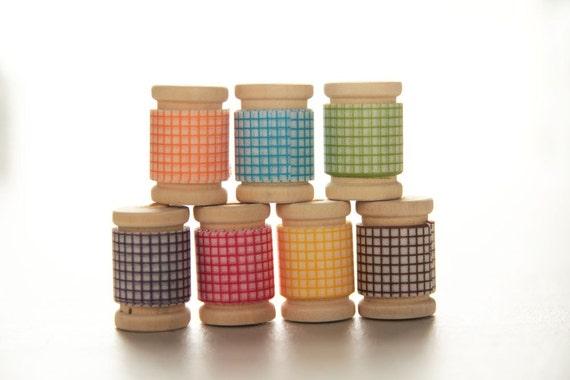 Japanese Washi Tape PRETTY Rainbow GRID Assortment|| Birthday Party Favors & Decor, Garland, Rainbow Decor