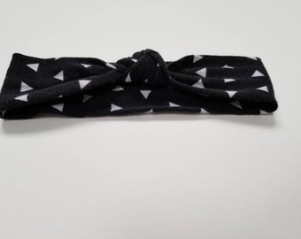 Black Top knot headband