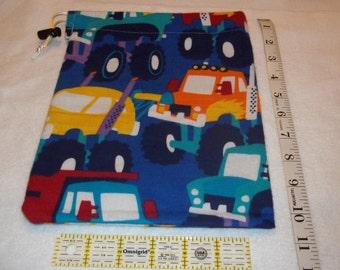 Monster Trucks Handmade Drawstring Bag