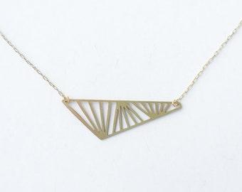 Geometric Obtuse Triangle Necklace | ATL-N-127