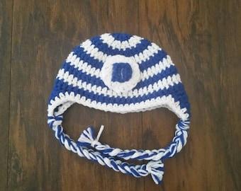 Duke Inspired Crochet Hat with Tassels