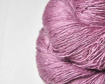 Clarkia coming to dust - Tussah Silk Lace Yarn - Hand Dyed Yarn - handgefärbte Wolle - DyeForYarn