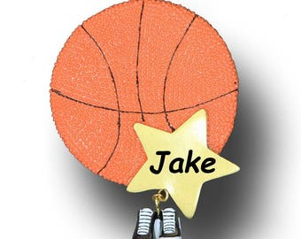 Basketball Ornament, Personalized Christmas Ornament, Ornament, Basketball, Personalized, basketball Star