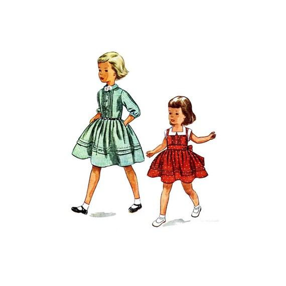 1950er Jahre Mädchen Faltenrock Kleid Einfachheit 3468