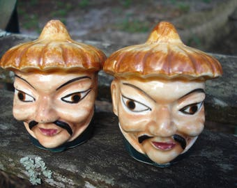 Asian Man Salt and Pepper Shakers