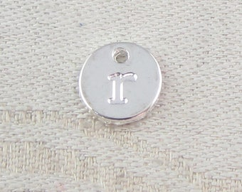 1 or 5, Initial Charm, Charm Bracelet, Lower Case Letter, Silver Letter, Initial Pendant, Alphabet Charm, Lower Case Charm, ALF021r-PL
