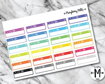 School Exam Tracker Stickers for Planners