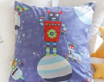 Twill Cotton Fabric Robot By The Yard